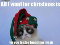 All I want for christmas is...... -__________- Join Pusheen the Cat smile emoticon: AIII want for christmas is  for you to stop breathing my air All I want for christmas is...... -__________- Join Pusheen the Cat smile emoticon