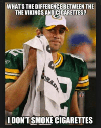 Lol! Like Us NFL Memes!: WHATS THE DIFFERENCE BETWEEN THE  THE VIKINGS ANDCIGARETTES?  DONT SMOKE CIGARETTES Lol! Like Us NFL Memes!