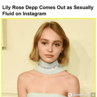 The most millennial headline ever (@ianratner): Lily Rose Depp Comes out as Sexually  Fluid on Instagram  KIOSKED Ads X The most millennial headline ever (@ianratner)