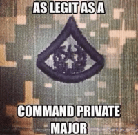 AS LEGIT ASA  COMMAND PRIVATE  MAJOR Army Nation
