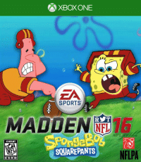 Check out these hilarious Madden covers:  😂😂: EA  SPORTS  MADDEN  NFL  RYT  SQUAREPANTS  NFLPA  ES RB Check out these hilarious Madden covers:  😂😂