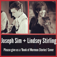 Books, Instagram, and Book: Joseph Sim Lindsey Stirling  Please give us a Book of Mormon Stories' Cover Lindsey Stirling Book of Mormon Stories campaign For Instagram'ers'! Post this picture and tag @LindseyStirling in it! Add the hashtag #SimStirlingCover Lets make this happen!!!