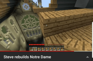 After herobrine burned the notre dame steve decided to take matters to his hand.: 64 64  64  Steve rebuilds Notre Dame After herobrine burned the notre dame steve decided to take matters to his hand.