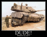 Army NationSeriously: DUDE!  Where's my car?? Army NationSeriously