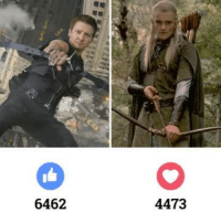 Hawkeye from The Avengers vs. Legolas from The Lord of the Rings Trilogy. Who wins?: 6462  4473 Hawkeye from The Avengers vs. Legolas from The Lord of the Rings Trilogy. Who wins?
