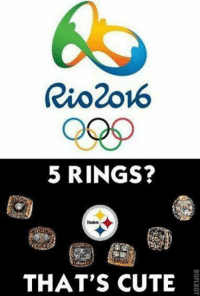 Rio2ov6  5 RINGS?  THAT'S CUTE Pittsburgh Steelers' new Olympic ad is a must see.... Like Us NFL Memes!