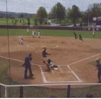 64m  w Video: Army softball player hurdles catcher and scores a run! Watch >