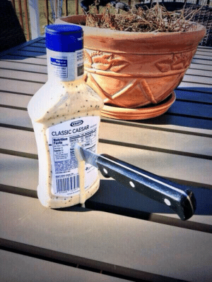 Facts, Fucking, and Funny: 6527900  47 198  CLASSIC CAESAR  Nutrition  -Facts diggly:  mamacastiel:  why does this have 32k notes? it's just a picture of a knife in a ranch bottle, is there some unspoken joke that 32 thousand people share? what is going on here, i dont get it. it's just a fucking picture of a knife in a ranch bottle. is there some spiritual connection people have to this picture? is there some ominous and mystical reasoning that this has 32 thousand notes? do people reblog this because it makes them look like some indie blogger? or is there just something funny to this? someone please explain  no one tell him