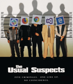 "Computer, Coincidence, and Crawl: 6'6""  6'6  60""  60""  56""  5'6  5'0  50""  4'6  46  40""  40""  3'6  3'6  3'0""  3'0  the  Usial Suspects  FIVE CRIM INA LS. ONE LINE UP  NO COINCIDENCE. When the Computer slows to a crawl."