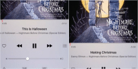 Christmas, Funny, and Halloween: oo Sprint LTE  6:14 A  WALT DISNIEN PICTU  NTS  URION  NIGHTMARE  BEFORE  Music LYRICS BY DANNY  SeORE BY DANNY ELENAN  0:05  3:12  This Is Halloween  s of Halloween Nightmare Before Christmas (Special Edition)  II October 31st vs November 1st