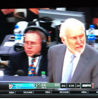 Gregg Popovich roasted all 3 refs at the same time #Spurs https://t.co/slb3aZHGo7: 663rd 3:39 24n  NBA  NCAAM  NBA  NCAAM  NBA Gregg Popovich roasted all 3 refs at the same time #Spurs https://t.co/slb3aZHGo7