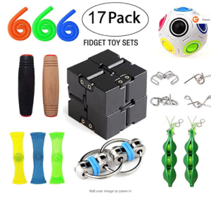 Amazon, Children, and Love: 666  17 Pack  R Save  FIDGET TOY SETS  %3D  Roll over image to zoom in Because Autistic children love the devil (Found it on Amazon)