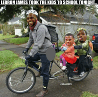 LeBron James against Kevin Durant & Russell Westbrook today. Thunder Cavs: LEBRON JAMES TOOK THE KIDS TO SCHOOL TONIGHT LeBron James against Kevin Durant & Russell Westbrook today. Thunder Cavs