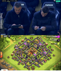 68:06 VIL 1 0  BAR  2809  ESA  PAMESA  2 119 44  Max 000  864 Luis Enrique playing clash of clans on the bench..😂🤚