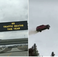 @see_more has the dankest memes on IG: 68  TRAFFIC DEATHS  THIS YEAR @see_more has the dankest memes on IG