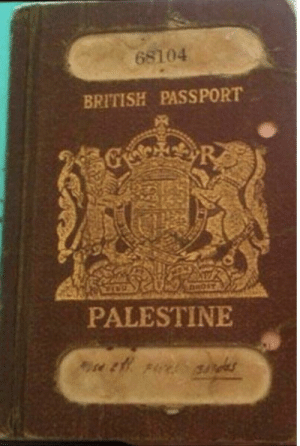 Passport, British, and Israeli: 68104  BRITISH PASSPORT  R  DROST  PALESTINE Long before the Israeli occuption