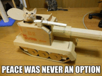 Join Grumpy Cat. for more funny cat photos! grin emoticon: PEACE WAS NEVER AN OPTION Join Grumpy Cat. for more funny cat photos! grin emoticon