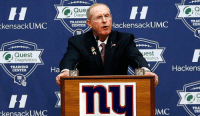 """Definitely, Football, and Nfl: UMC  keensackU  Diagnostics  TRAINING  CENTER  kensack UMC  Que  Diag  TRAINING  CENTER  TRAI  Hackensack UMC  CEN  est  nostics  Hackens  TRA  JMC  CEI """"I'm not necessarily done with coaching. Unless the Browns call, then I'm done, definitely done."""" -Tom Coughlin"""