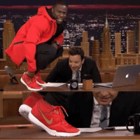 Kevin Hart is the first comedian to get a signature shoe with Nike. 👏: 땄  IF Kevin Hart is the first comedian to get a signature shoe with Nike. 👏