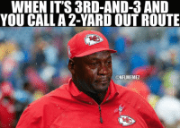 Good ol' Andy Reid: @NFLMemez  Good ol' Andy Reid  When it's 3rd-and-3 and you call a 2-yard out route Good ol' Andy Reid