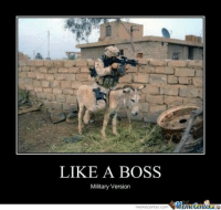 Military Memes: LIKE A BOSS  Military Version  memecenter.com Memetenler