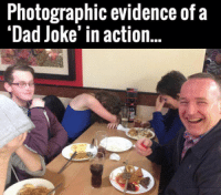 """The horror.: Photographic evidence of a  """"Dad Joke' in action... The horror."""