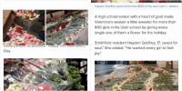 THIS IS THE SWEETEST THING EVER 😭: High school senior buys Valentine's Day  flowers for all 834 girls at his school: THIS IS THE SWEETEST THING EVER 😭
