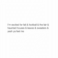 if you didn't realize my last caption was from the movie Cyberbully you should go watch it: I'm excited for fall & football & the fair &  haunted houses & leaves & sweaters &  yeah ya feel me if you didn't realize my last caption was from the movie Cyberbully you should go watch it