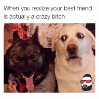 👀 @hesanassholeanyway: When you realize your best friend  is actually a crazy bitch 👀 @hesanassholeanyway