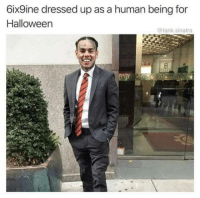 Halloween, Omg, and Tumblr: 6ix9ine dressed up as a human being for  Halloween  @tank sinatra omg-humor:Ooh boi
