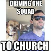That cat face tho.-Who drives you to church if you don't drive there yourself?-@gmx0-squad driver-BaptistMemes: VIA 9GI  DRIVING THE  SOUAD  @baptist memes  TO CHURCH That cat face tho.-Who drives you to church if you don't drive there yourself?-@gmx0-squad driver-BaptistMemes
