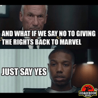 SAY YES--Follow me @Superhero_Pedia--justiceleaguesupermancaptainamericabatmanwonderwomanarrowtheflashgothamspidermanbatmanvsupermancomicbookmemesjusticeleaguememesavengersavengersmemesageofultrondccomicsdcmemesdccomicsmemesmarvelmarvelcomicsmarvelmemes--🚨 CLICK LINK IN MY BIO 👆-🚨 To check out epic things for geeks and gamers! 👆: AND WHAT IF WE SAY NOTO GIVING  THE RIGHTS BACK TO MARVEL  JUST SAY YES  COMIC BOOK  MEMES SAY YES--Follow me @Superhero_Pedia--justiceleaguesupermancaptainamericabatmanwonderwomanarrowtheflashgothamspidermanbatmanvsupermancomicbookmemesjusticeleaguememesavengersavengersmemesageofultrondccomicsdcmemesdccomicsmemesmarvelmarvelcomicsmarvelmemes--🚨 CLICK LINK IN MY BIO 👆-🚨 To check out epic things for geeks and gamers! 👆