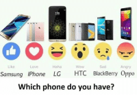 Sad Love: 7:00  Like  Haha  WoW  Sad  Love  Angry  Samsung IPhone LG HTC BlackBerry Oppo  Which phone do you have?