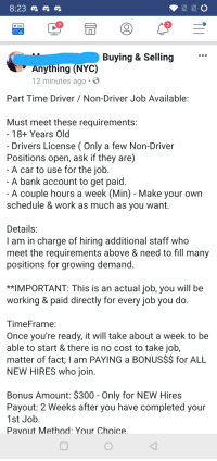Driving Jobs Nyc >> 7 2 Buying Selling Anything Nyc 12 Minutes Ago Part Time
