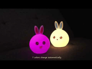 Cute, Family, and Friends: 7 colors change automatically cute-aesthetics-things: Cute and Adorable Rabbit Light Changing Color Night Light. Perfect to help you read in the dark! The perfect Little Gift for your Friends and Family! = GET YOURS HERE =