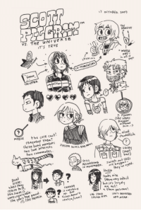 imaginescottpilgrim:  Vol. 5: 7 OCTOBER 2007  TM  THE  BRACELET  S. THE UNIVERSE  IT'S TRUE  WAT  OUT  s all it  54ys  CO-HABITATING  THE LETTER  POWERY  she seems  MOGILE he cote cut!  renenber them?  three band members  Ihim.  aloof  standoffish  two love interest J  JASON KIM- AD  two roommetes  : 0A0 Mews  Laine  shor  RECORDING oserh shlls  they 've ose  hait)  N NOVEMBER  Ban  Sceae  when H  return to  Hollie  looks aice  the Scene is  TAMARA  btit largel  an act!  like vears have  t's like Narnia  Kaives toes'  realize/care?  personn  SNE STOLe imaginescottpilgrim:  Vol. 5