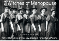 Dank, Psycho, and 🤖: 7 Witches of Menopause  A Little Bit of  This & Tha  chy, Bitchy, Sweaty, Sleepy, Bloated, Forgetful, & Psycho