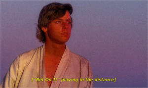 """dying-suffering-french-stalkers:Star Wars (1977), dir. Kenny Ortega: 70  [""""Bet On It """" playing in the distance] dying-suffering-french-stalkers:Star Wars (1977), dir. Kenny Ortega"""