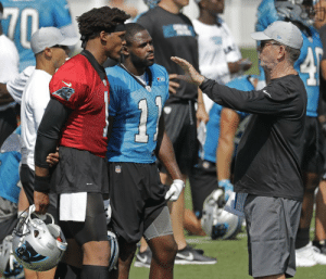 "Cam Newton: ""4th and inches, you want me to sneak it? Should be easy.""  Norv Turner: ""No, no, we're running wildcat with Christian.""   Cam: ""Okay...""  Norv: ""I want you to act like a receiver and go deep.""   Cam: ""But coach we're at their 2 yard line.""   Norv: ""I said: Go. Deep."" https://t.co/Bsp8gLqfgP: 70  SE Cam Newton: ""4th and inches, you want me to sneak it? Should be easy.""  Norv Turner: ""No, no, we're running wildcat with Christian.""   Cam: ""Okay...""  Norv: ""I want you to act like a receiver and go deep.""   Cam: ""But coach we're at their 2 yard line.""   Norv: ""I said: Go. Deep."" https://t.co/Bsp8gLqfgP"