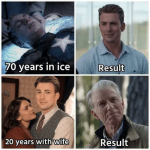 Marriage, Wife, and Old: 70 years in ice  Result  wife  Result  20 years with Get it? Cause marriage makes you OLD