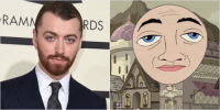 Doe, Doppelganger, and Phineas and Ferb: why does sam smith look like balloony from phineas and ferb