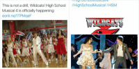 THIS IS HAPPENING OH MY GOD: E! Online  @eonline  This is not a drill, Wildcats! High School  Musical 4 is officially happening:  eonline/ITPMgeF THIS IS HAPPENING OH MY GOD