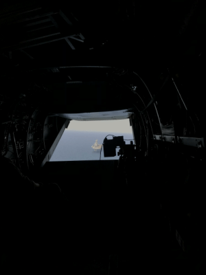 Taken, Marine, and Uss: 70L50 Taken during my deployment. I was flying in a Marine helicopter from the USS Kearsarge to a Middle Eastern country.