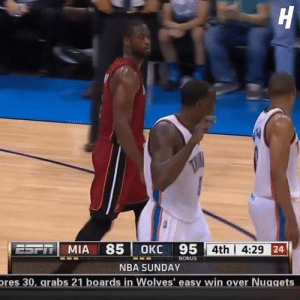D-Wade says he dunked on Kendrick Perkins as revenge for kicking him in the back of the head: 71 MIA 85|0KC 95  4th | 4:29  BONUS  NBA SUNDAY  res 30, arabs 21 boards in Wolves' easy win over Nuggets D-Wade says he dunked on Kendrick Perkins as revenge for kicking him in the back of the head