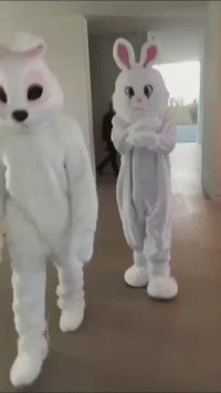 Bunnies, Easter, and Funny: Kanye and Tyga dressed up as the Easter Bunnies 😂