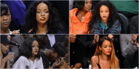 Funny, Queen, and Mean: Queen of sitting courtside and looking mean