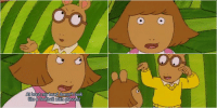 Arthur roasted the hell out of D.W 😂😂: DW, please move your big,  enormous, large, gopher-lookin head Arthur roasted the hell out of D.W 😂😂