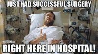 Daniel Bryan doing his best Mick Foley impersonation: JUST HADSUCCESSFUL SURGERY  STING  RIGHT HEREINHOSPITAL! Daniel Bryan doing his best Mick Foley impersonation