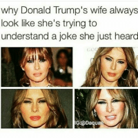 """""""I don't get it"""": why Donald Trump's wife always  look like she's trying to  understand a joke she just heard  Daquan """"I don't get it"""""""