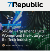 Future, Memes, and Politics: 71Republic  Business Technology Law  Sexual Harassment Hurts  Women and the Future of-  the Tech Industry  Austin Cherkas on July 7, 2017 Great new post by @austincherkas on @71republic , go check it out! Link in bio. - 📊Partners📊 🗽 @nathangarza101 🗽 @givemeliberty_or_givemedeath 🗽 @libertarian_command 🗽 @minarchy 🗽 @radical.rightist 🗽 @minarchistisaacgage860 🗽 @together_we_rise_ 🗽 @natural.law.anarchist 🗽 @1944movement 🗽 @libertarian_cap 🗽 @anti_liberal_memes 🗽 @_capitalist 🗽 @libertarian.christian 🗽 @the_conservative_libertarian 🗽 @libertarian.exceptionalist 🗽 @ancapamerica 🗽 @geared_toward_liberty 🗽 @political13yearold 🗽 @free_market_libertarian35 - 📜tags📜 libertarian freedom politics debate liberty freedom ronpaul randpaul endthefed taxationistheft government anarchy anarchism ancap capitalism minarchy minarchist mincap LP libertarianparty republican democrat constitution 71Republic 71R